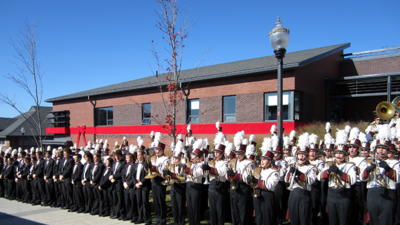 umass band building dedication