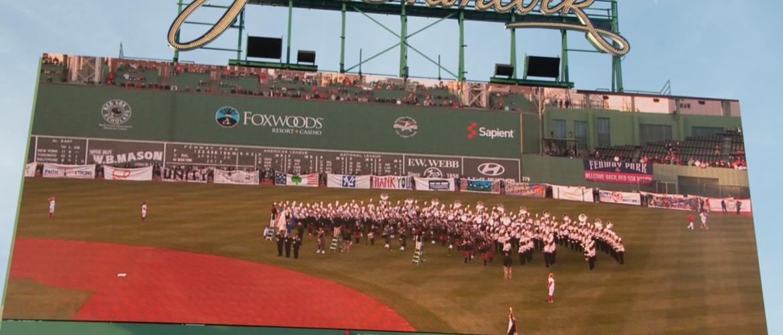 UMass Band at Fenway Park Boston Marathon Bombing memorial