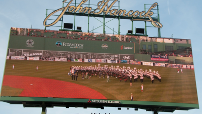 UMass Band at Fenway Park Boston Marathon Bombing memorial