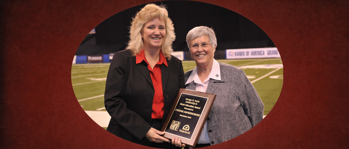 Cynthia Napierkowski – 2014 George N. Parks Leadership in Education Award Recipient