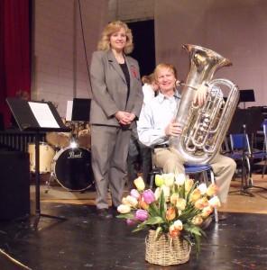 Cyndi Napierkowski with George Parks