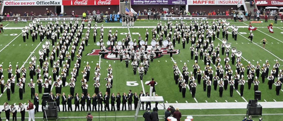 UMass Band pregame