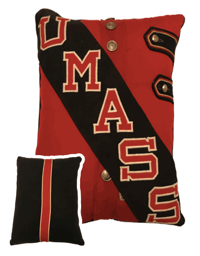 Red uniform pillow UMass Band