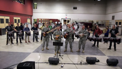 Six String Soldiers with UMass Drumline