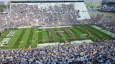 UMass Band performs pregame at Penn State's Beaver Stadium