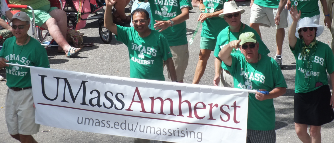 UMass Amherst at 2016 Naples St. Patricks Day Parade